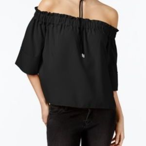 Black Over the shoulder top